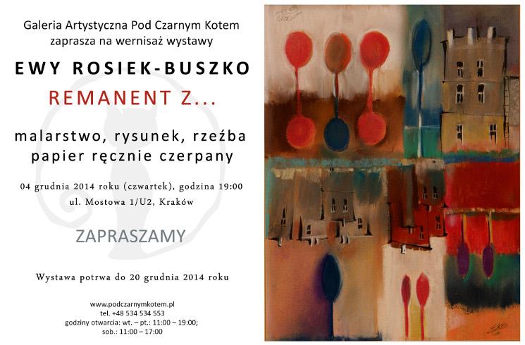 """Wystawa prac Ewy Rosiek-Buszko pt. """"REMANENT Z…"""""""