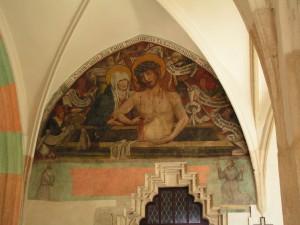 Fresk Misericordia Domini na krużgankach kościoła św Katarzyny