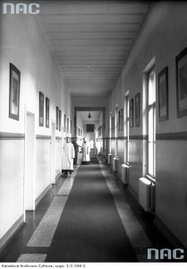 korytarz szpitala Bonifratrów 1937