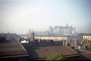 Kraków, Wawel - widok z dachu. Lato 1984