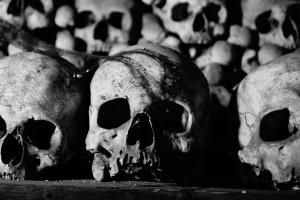 Kutna Hora w Czechach - kaplica czaszek, podczas jej budowy wykorzystano czaszki osób, zmarłych w czasie epidemii dżumy w XIV w