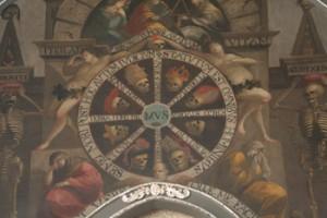 """""""Koło śmierci"""" fresk w kościele Św Katarzyny http://parafia-kazimierz.augustianie.pl"""